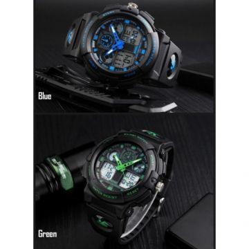 SKMEI 1270 Men Watch Dual Display Stopwatch Alarm Sport Fashion