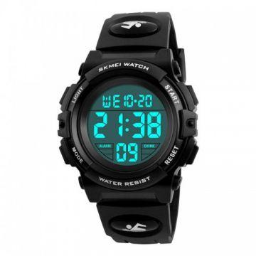 SKMEI 1266 Children Watch Outdoor Sport Fashion Multifunction Chronograph Waterproof Digital Watch - Black