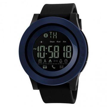 SKMEI 1255 Men Smart Watch Calorie Pedometer Remote Camera 50M Waterproof Watch