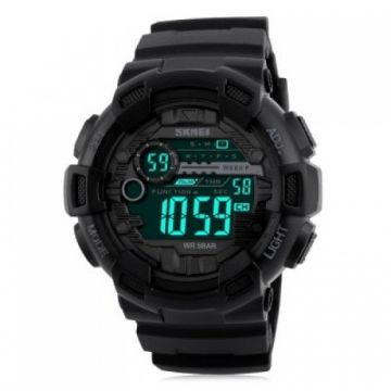 SKMEI 1243 Men Sports Watch - BLACK