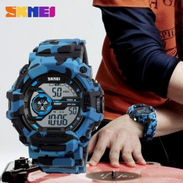 Skmei 1233 Men Digital Wristwatches Fashion Big Dial Waterproof‎