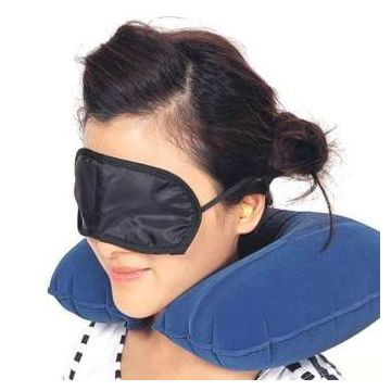 Traveling Aid- Neck Pillow, Earplug,  Eye Cover 3 In 1 Set