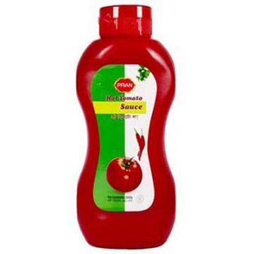 Pran Hot Tomato Sauce Plastic Jar - 1000 gm