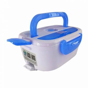 Master Kitchen Portable Electric Lunch Box - White and Blue