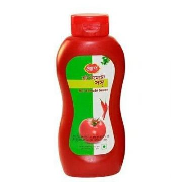 Pran Hot Tomato Sauce - 550gm Plastic Jar