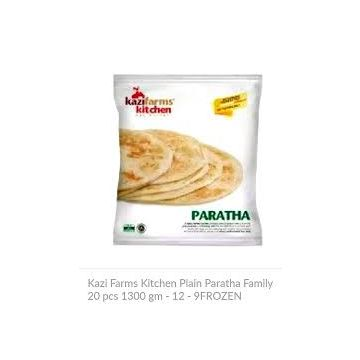 Kazi Farms Kitchen Plain Paratha Family 20 pcs 1300 gm - 12 - 9FROZEN