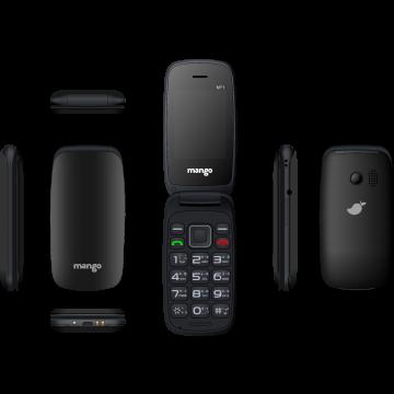 Mango MF1 - Folding Feature Phone - Money Detector - MTK Chipset - Dual SIM - Black