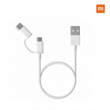 Xiaomi Mi 2-in-1 USB Cable micro USB to Type-C - white