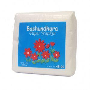 Bashundhara Paper Napkin - 100Pcs (Non Perfume)