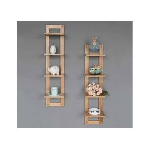Malaysian Processed Wood Wall Hanging Shelf - Khaki