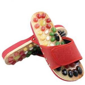 Wooden Foot Massage  Slippers
