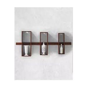 Malaysian Processed Wood Wall Hanging Shelf - Chocolate