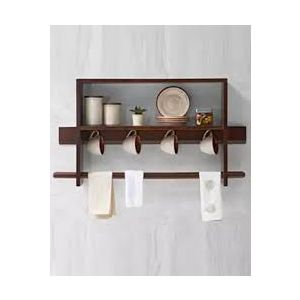 Malaysian Processed Wood Wall Hanging Shelf - Brown