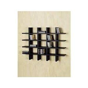 Malaysian Processed Wood Wall Hanging Shelf - Black