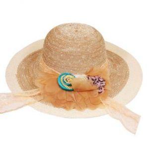 Sandy Brown Cotton Summer Travel Hat for Women