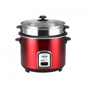 Vision Rice Cooker 1.8 Ltr (Red Color SS) 40-06