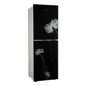 Vision GD Refrigerator RE-252 L Black Flower-1-TM