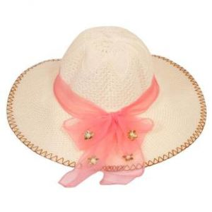 Light Coral Cotton Summer Travel Hat for Women