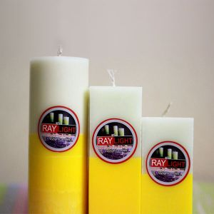 Cylinder and Square Pillar Candle Triangle Set