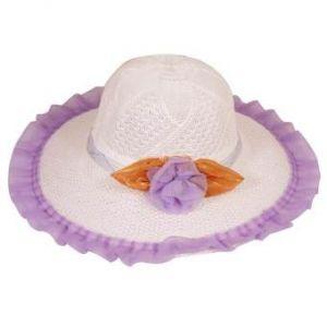 Light Purple Cotton Summer Travel Hat for Women