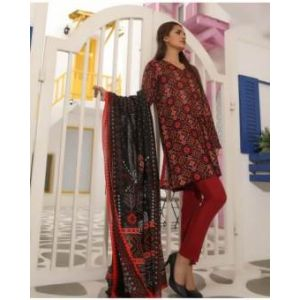 Unstitched pakistani Digital Printed Lawn for Women	DKF0157