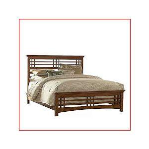 Chittagong Shegun Wood Bed - Lacquer Polish