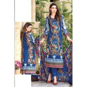 Unstitched pakistani Digital Printed Lawn for Women	-DKF0159