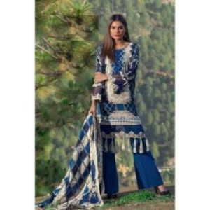 unstitched pakistani Digital Embrodary Lawn for Women	DKF0160