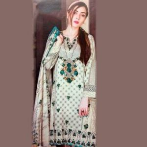 Multicolor Unstiched Pakistani Lawn For Women	DKF0165