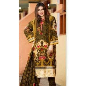 Unstitched pakistani Digital Printed Lawn for Women	DKF0170