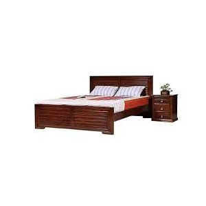Canadian Oak Veneer Wood Bed - Lacquer Polish