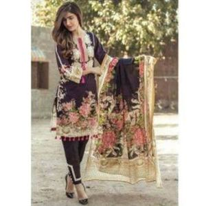 Multicolor Cotton Unstitched Pakistani Lawn for Women	DKF0174