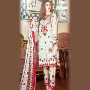 Multicolor Unstiched Pakistani Lawn For Women