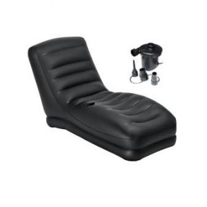 Inflatable Mega Lounge Chair With  Pumper - Black