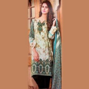Multicolor Unstitched Pakistani Lawn For Women