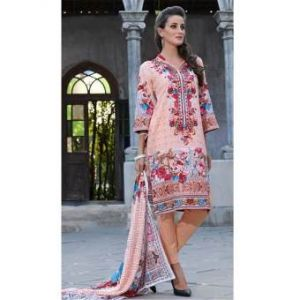 Multicolor Cotton Unstitched Digital Printed Lawn for Women	DKF0184