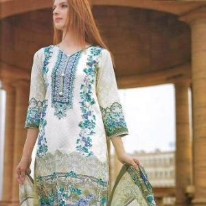Multicolor Cotton Unstitched Pakistani Lawn for Women	DKF0187