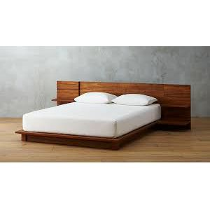 Canadian Oak Veneer Wood Bed - Lacquer Polish