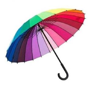 Fashionable Rainbow Umbrella  – Multicolor