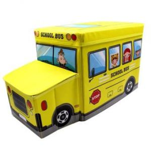 Foldable Ottoman School Bus  Storage Box Chairs