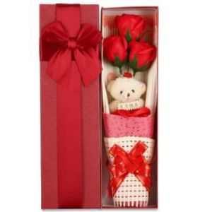 True Love Valentine Gift Teddy  Bear With Roses