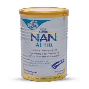 Nestlé NAN AL 110 Lactose Free Special Dietary Formula TIN - 400 gm
