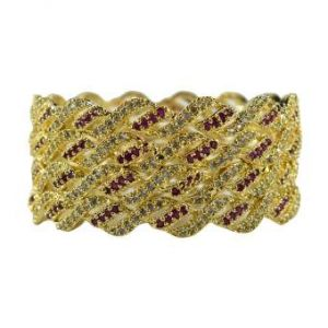 Golden Metal Bangles for Women