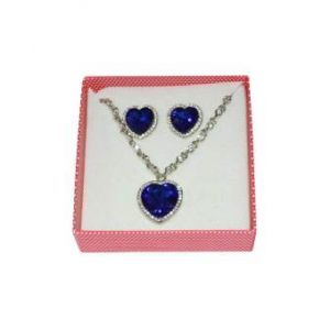 Heart Shape Jewelry Set  - Blue