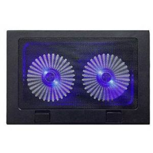 SUN TECH A 8 Double Fan LED Laptop Cooling Pad - Black