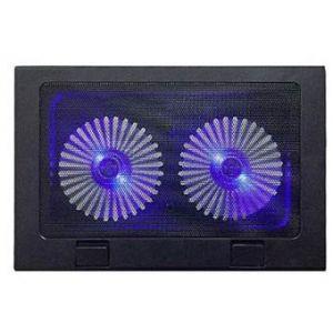 SUN TECH A 8 Double Fan LED Laptop Cooling Pad - Black