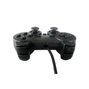 USB PC Game Dual Shock Joystick Controller - Black