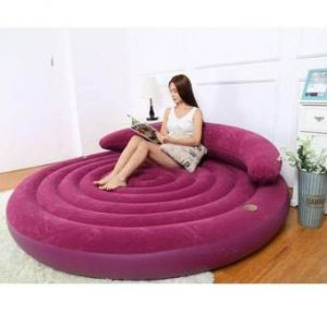 Round Inflatable Sofa  - Blueberry