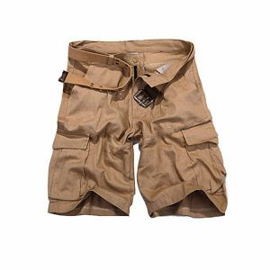 Biscuit Cargo Casual Shorts For Men