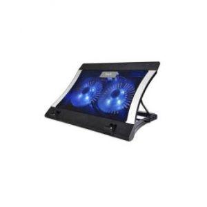 "2051 Double Fan Laptop Cooling Pad 14""-15.6"" - Black"